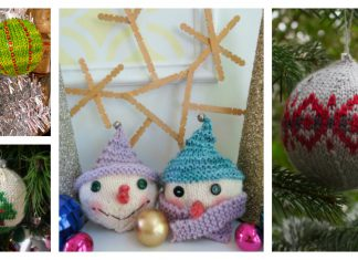 Christmas Ball Ornaments Free Knitting Pattern