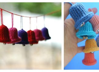 Christmas Bell Ornament Free Knitting Pattern