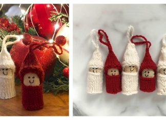 Christmas Cork Elves Free Knitting Pattern