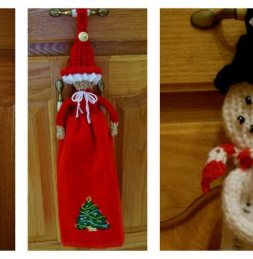 Christmas Towel Topper Free Knitting Pattern