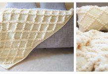Diamond and Bobble Throw Free Knitting Pattern