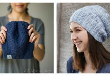 Dot Stitch Beanie Hat Free Knitting Pattern