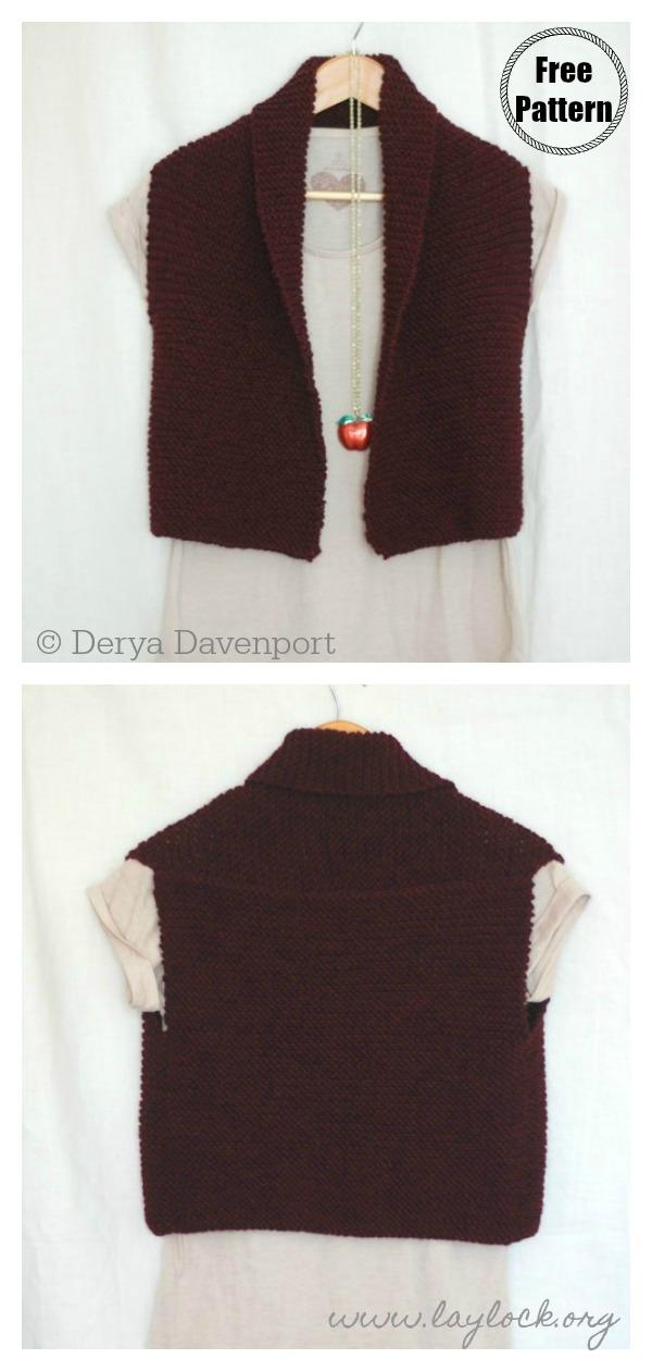 Easy Garter Stitch Vest Free Knitting Pattern