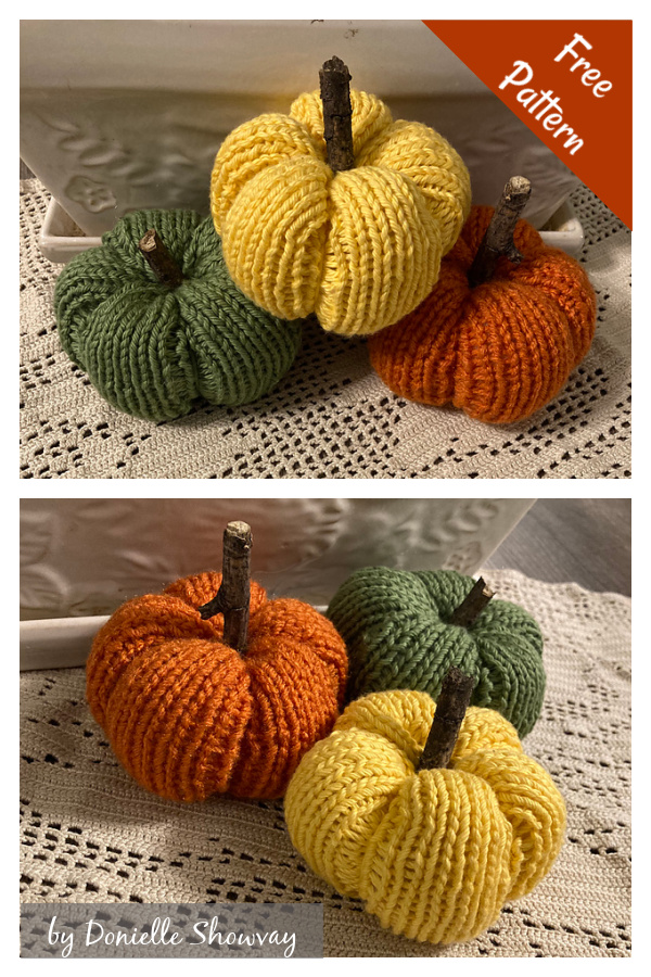 Fall Pumpkin Decorations Free Knitting Pattern