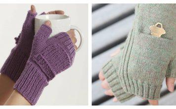 Fingerless Pocket Mitts Free Knitting Pattern