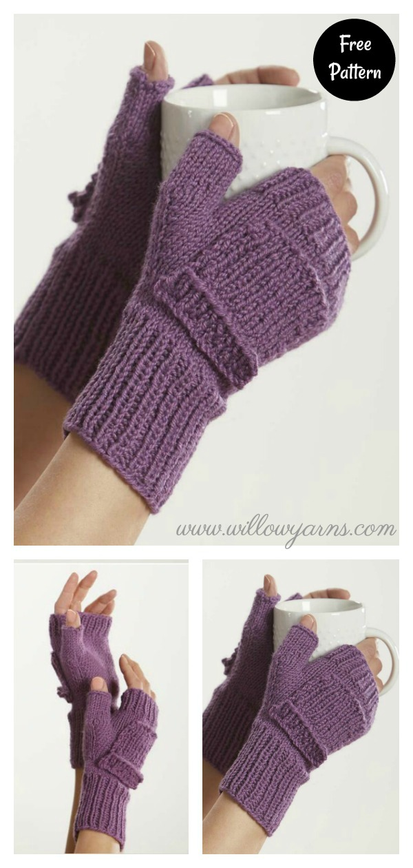 Fiona Fingerless Mitts with Pocket Free Knitting Pattern