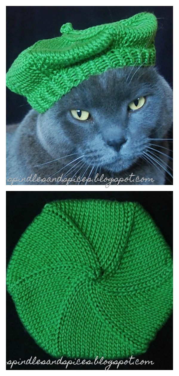 Le Mieux Beret Cat Hat Free Knitting Pattern
