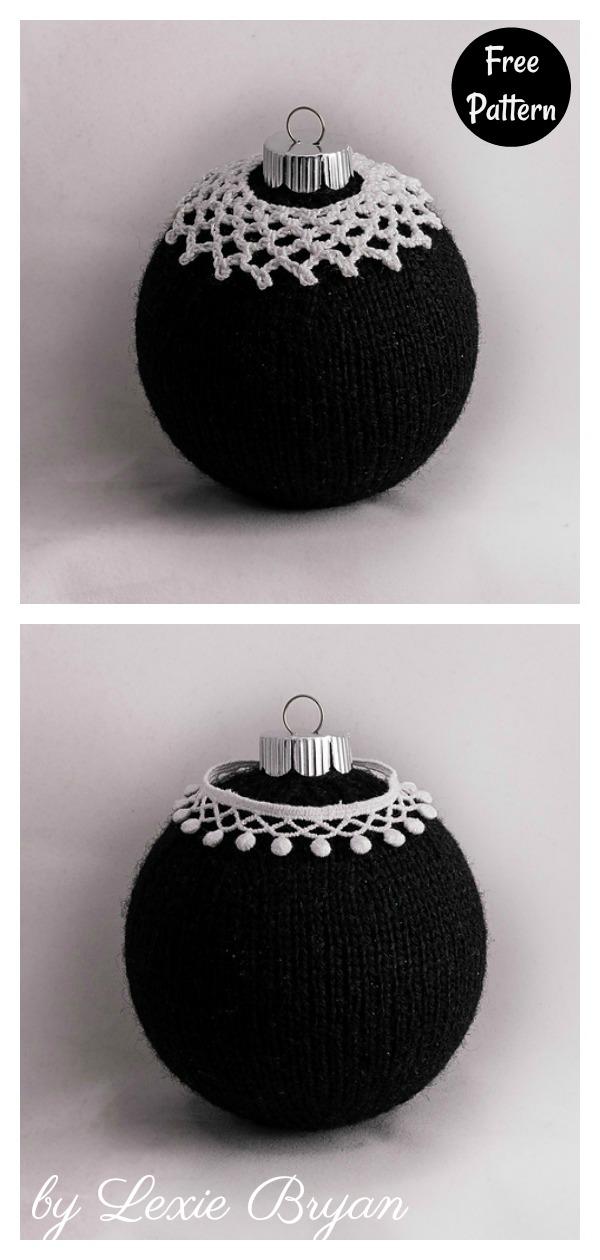RBG Ball Christmas Ornament Free Knitting Pattern