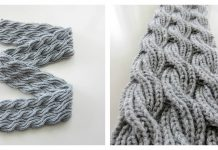 Reversible Cabled Brioche Stitch Scarf Free Knitting Pattern