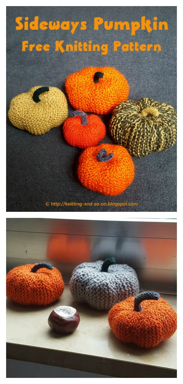 Sideways Pumpkin Free Knitting Pattern