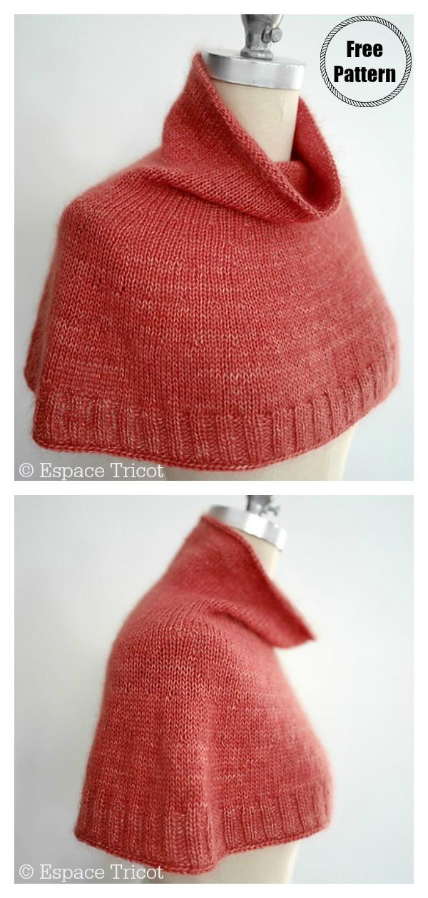 Simple Bonjour Hi Cowl Free Knitting Pattern