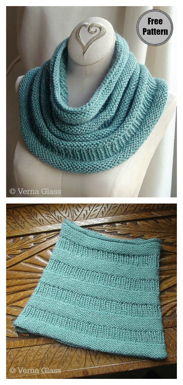 Simple Copycat Cowl Free Knitting Pattern