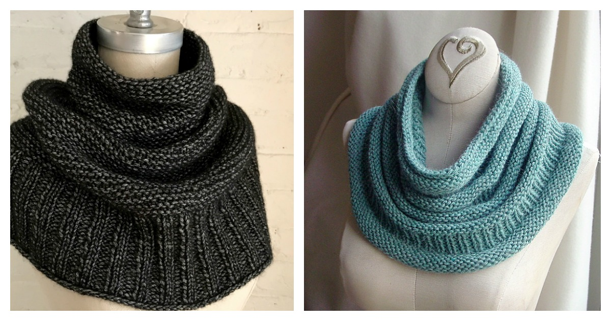 6 Simple Cowl Free Knitting Pattern