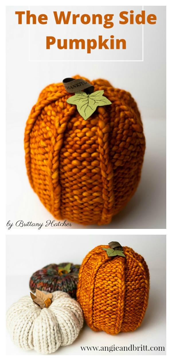 The Wrong Side Pumpkin Free Knitting Pattern
