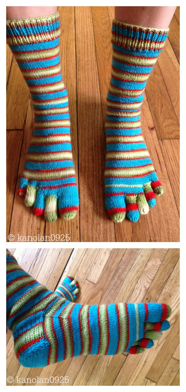 Toe Socks Free Knitting Pattern