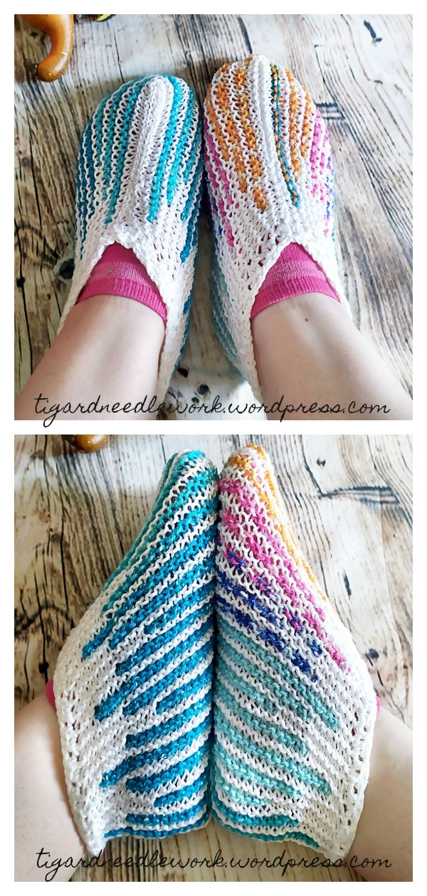 Turkish Slippers Free Knitting Pattern
