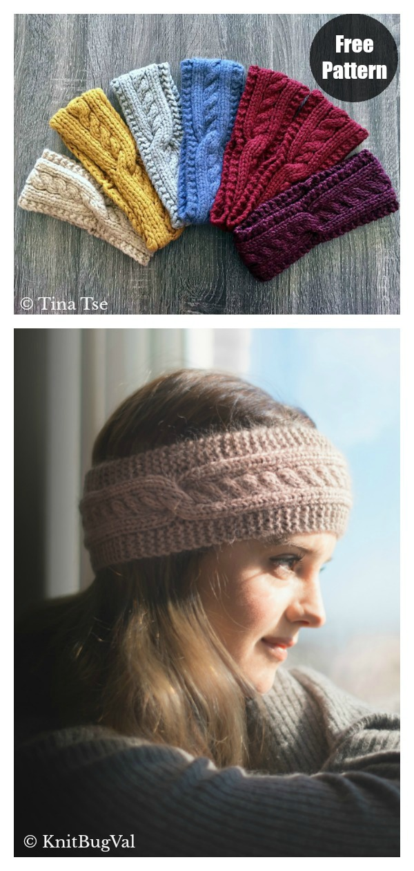 Cables with a Twist Headband Free Knitting Pattern
