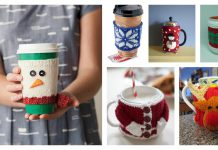 Christmas Cup Cozy Free Knitting Pattern