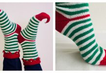Christmas Elf Socks Free Knitting Pattern