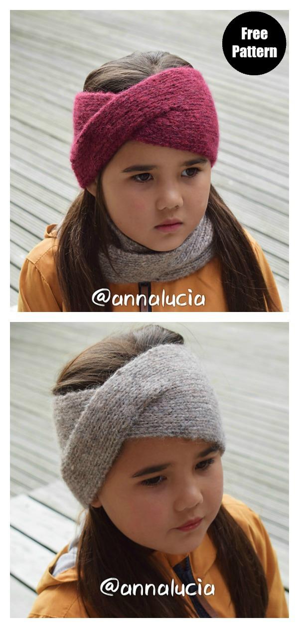 Classic Twist Headband Free Knitting Pattern