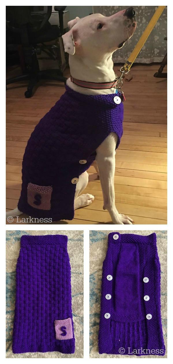 Clifford Dog Sweater Free Knitting Pattern