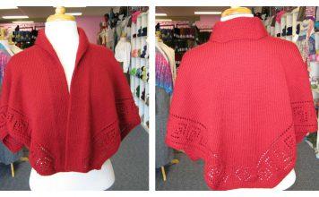 Collar Shawl Free Knitting Pattern