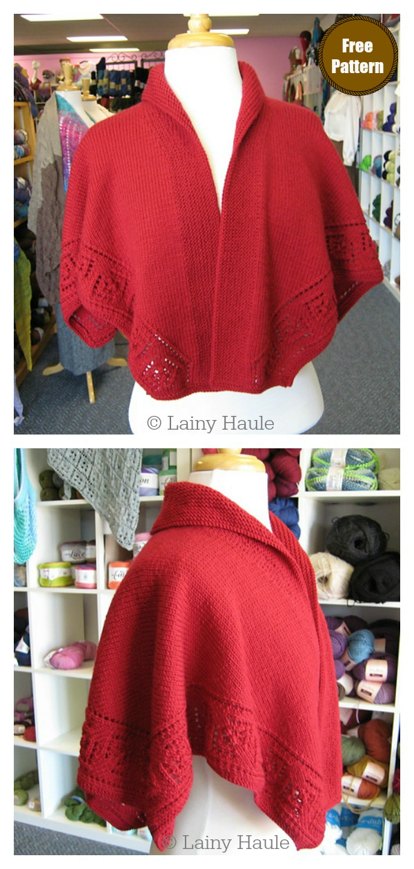 Collar Shawl Free Knitting Pattern