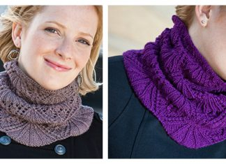 Eleanor Lace Cowl Free Knitting Pattern