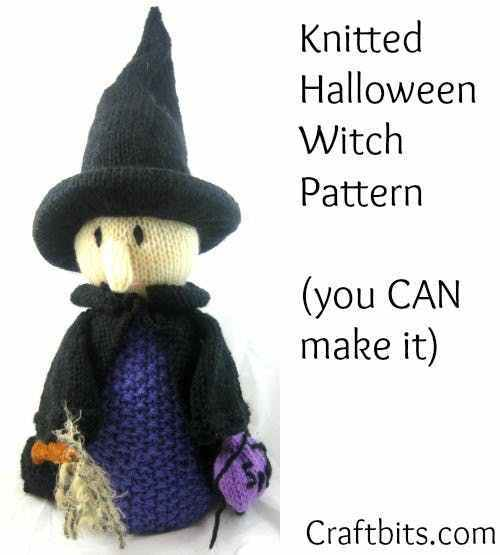 Halloween Witch Free Knitting Pattern