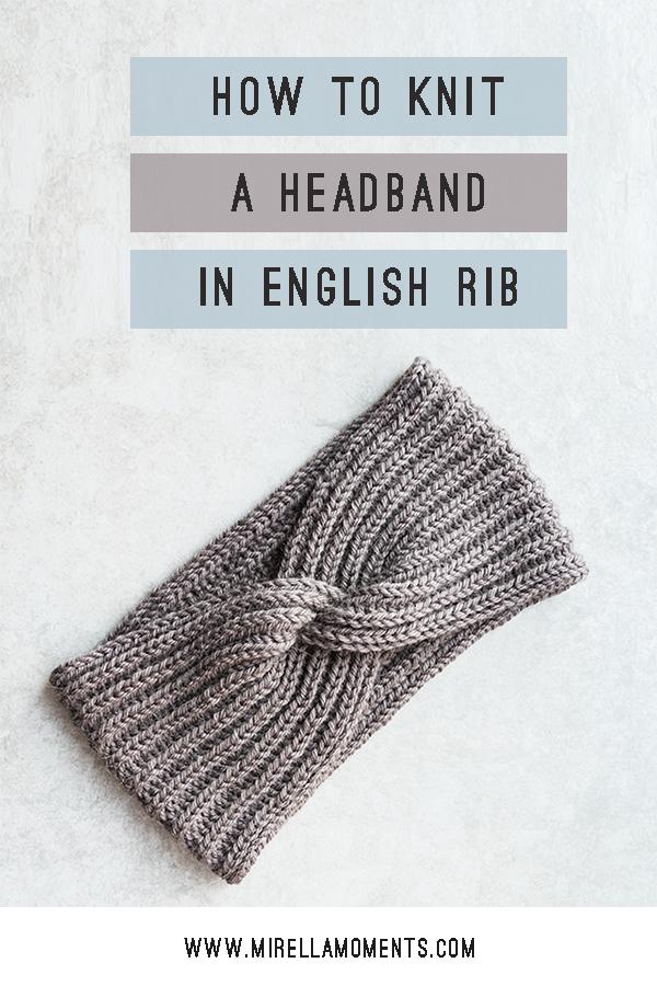 Headband with a Twist Free Knitting Pattern