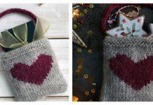 Heart Gift Bag Free Knitting Pattern