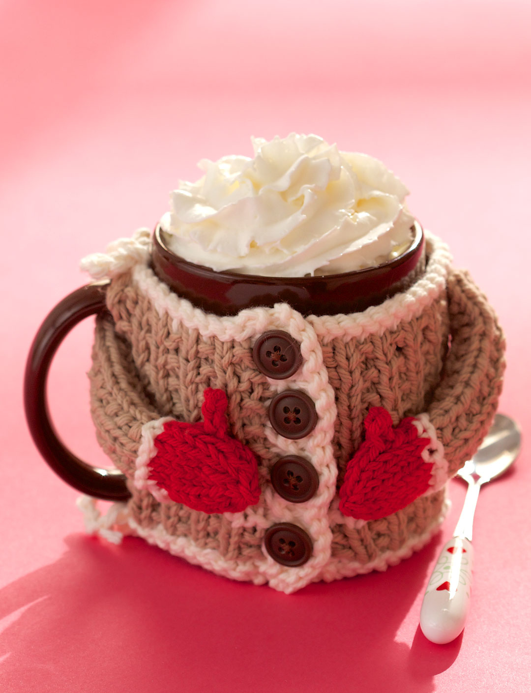 Hug Me Mug Cozy Free Knitting Pattern