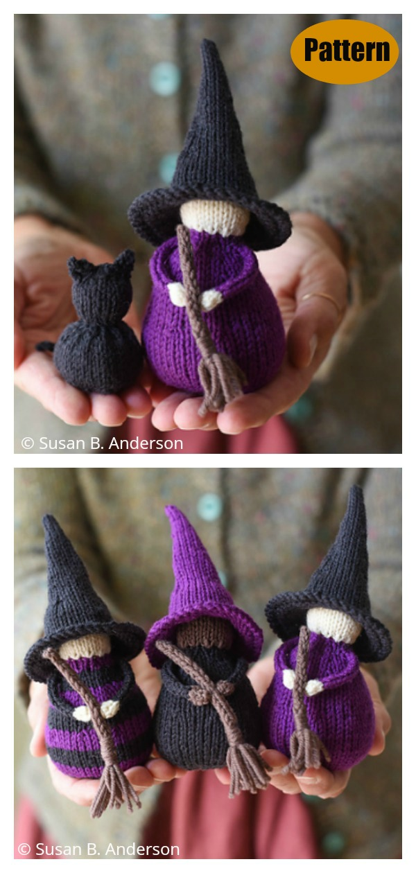 Little Witch Charm Set Knitting Pattern