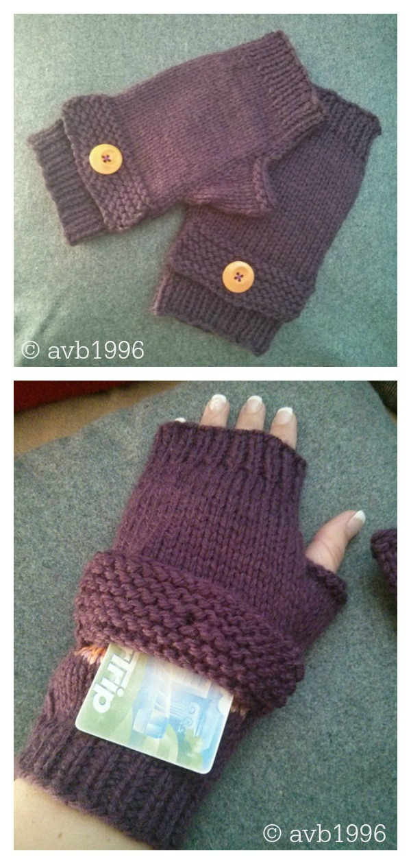 Magic Pocket Fingerless Gloves Free Knitting Pattern