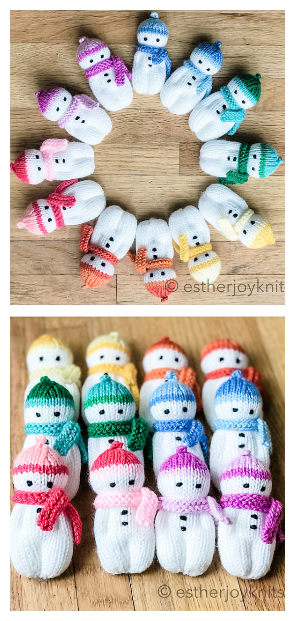 Mini Snowbuddies Free Knitting Pattern