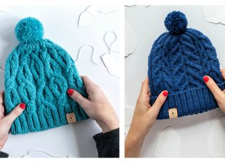 Modern Cable Panel Hat Free Knitting Pattern