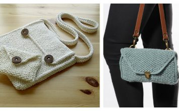 Moss Stitch Bag Free Knitting Pattern