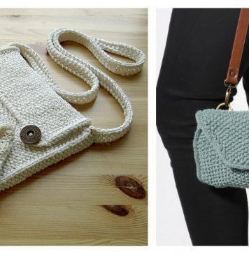Moss Stitch Bag Free Knitting Pattern