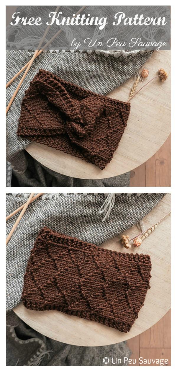 Napping by the Fire Twist Headband Free Knitting Pattern
