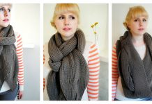Open Cable Reversible Scarf Free Knitting Pattern