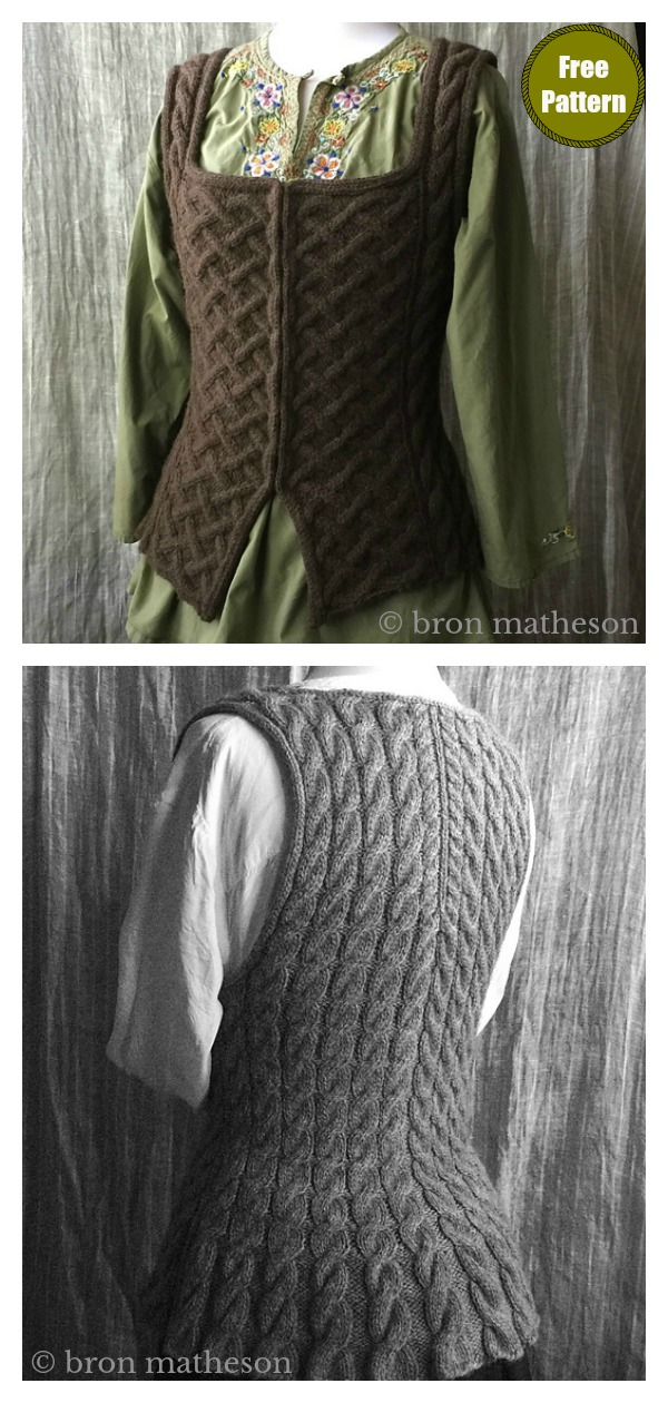 Outlandish Bodice Vest Free Knitting Pattern