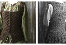 Outlandish Bodice Vest Free Knitting Pattern