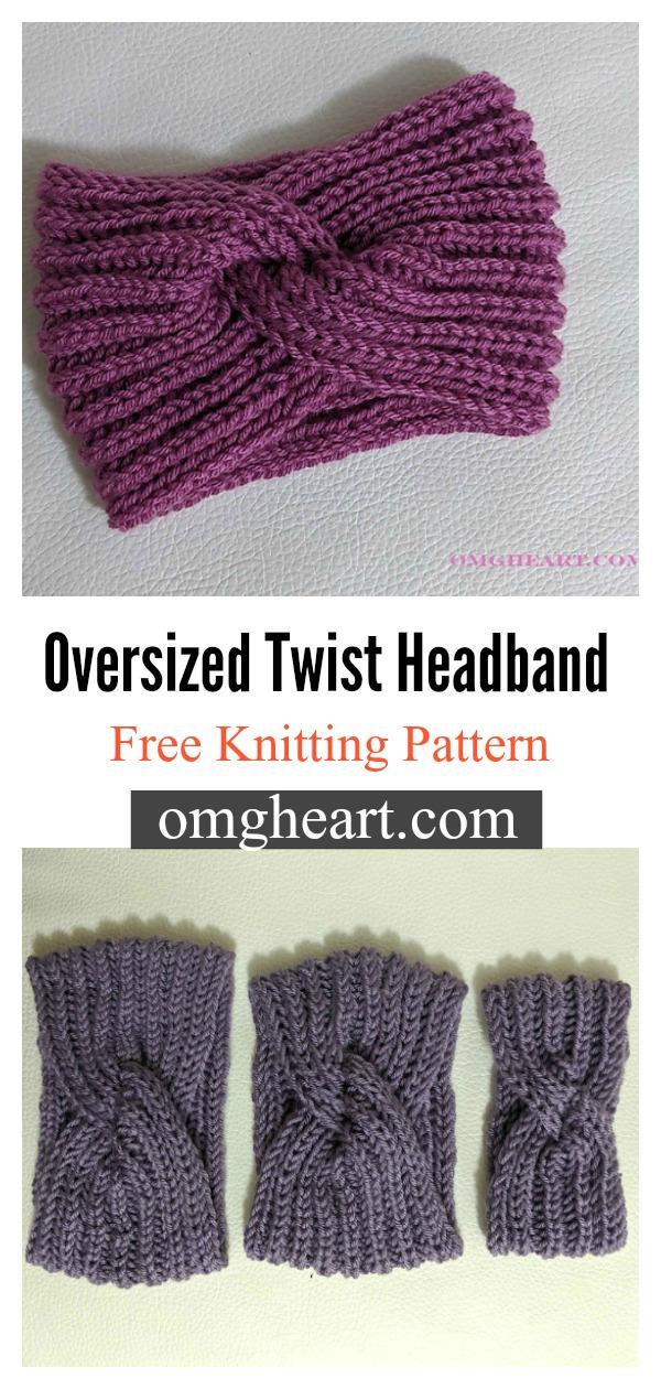 Oversized Twist Headband Free Knitting Pattern