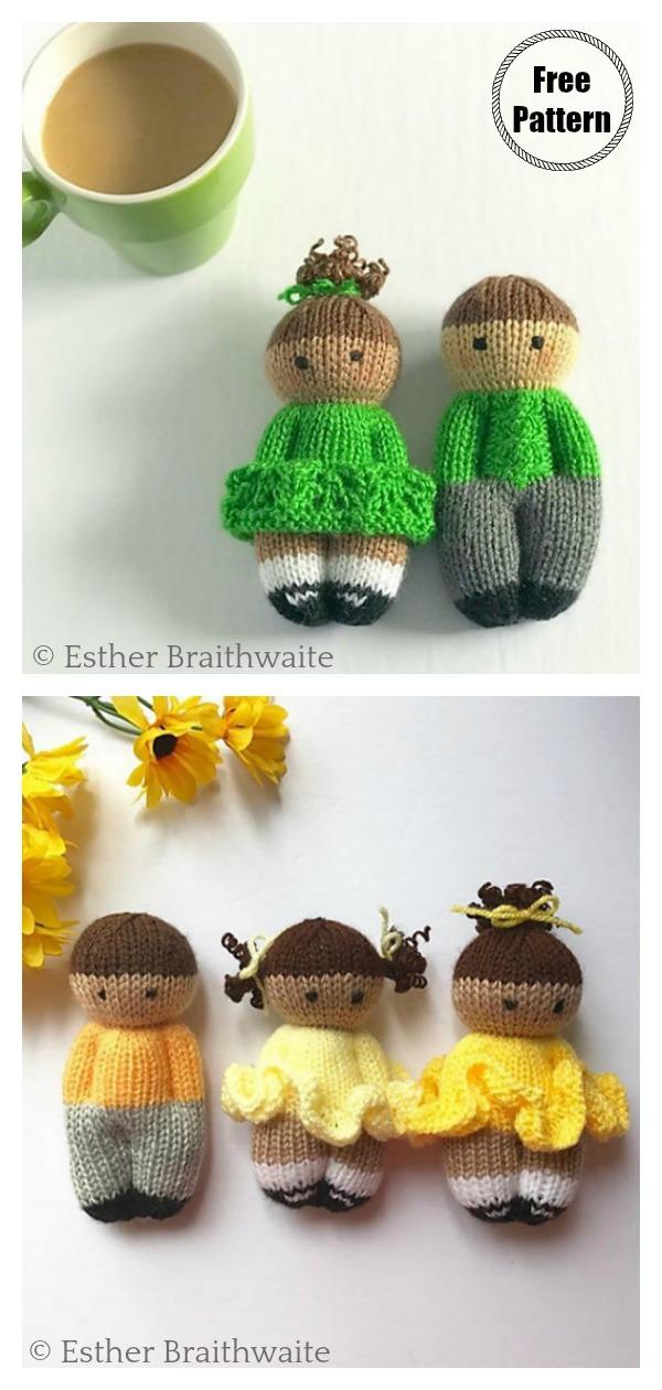 Pretty Izzy Dolls Free Knitting Pattern