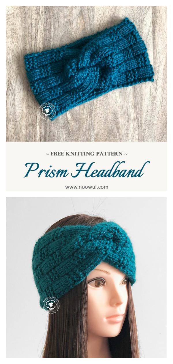 Prism Twist Headband Free Knitting Pattern