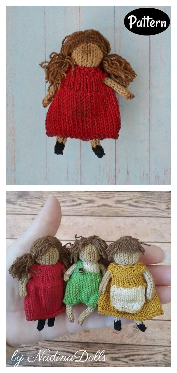 Raggedy Mini Doll Knitting Pattern