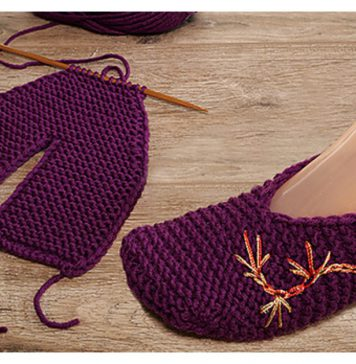 Seamless Slippers Free Knitting Pattern and Video Tutorial