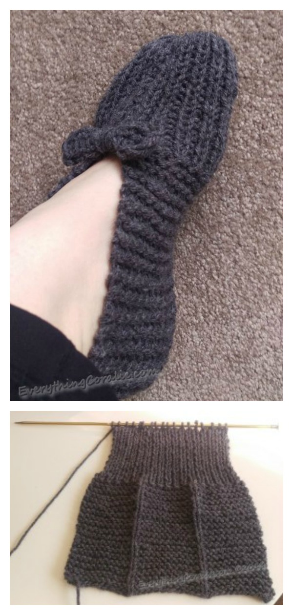 Simple Old-fashioned Slipper Free Knitting Pattern