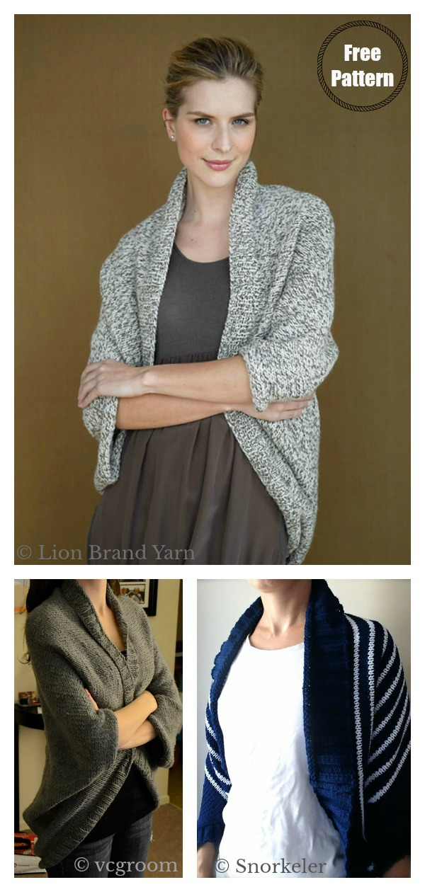 Speckled Shrug Free Knitting Pattern