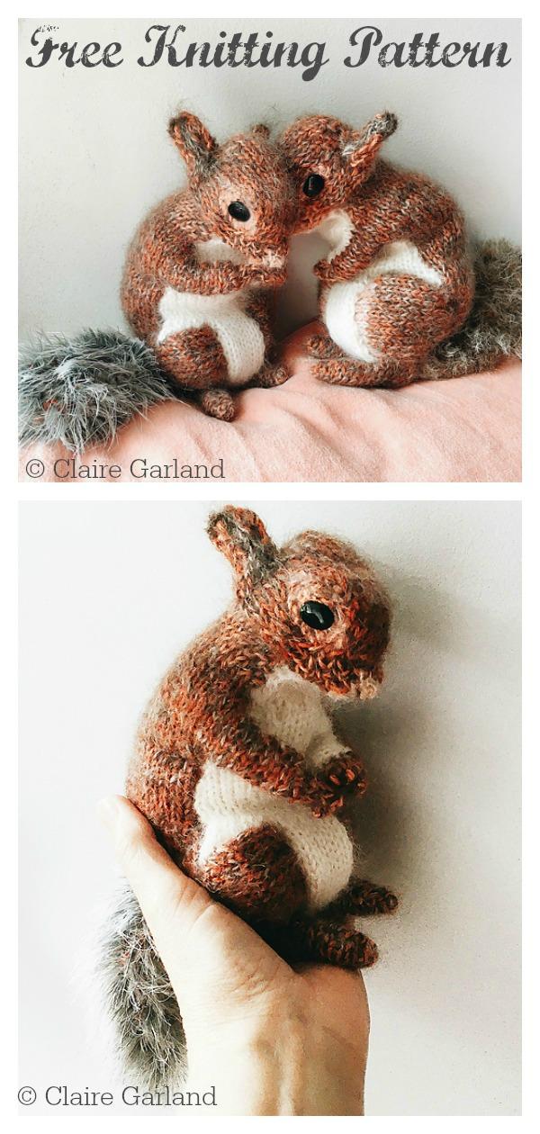 Squirrel Toy Free Knitting Pattern